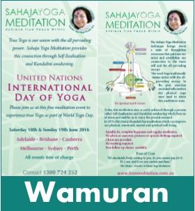 Wamuran Meditation World Yoga Day