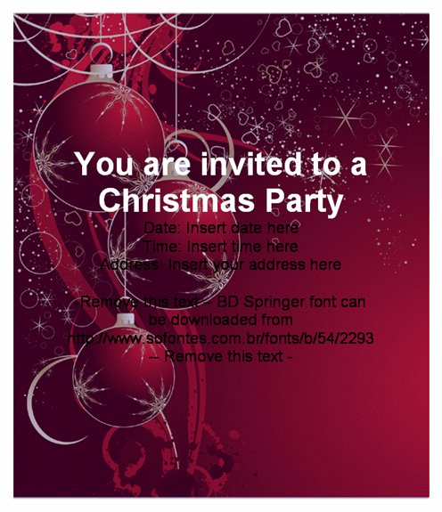Christmas Party Invitation Cards – Christmas Party Invitation Templates Free Download