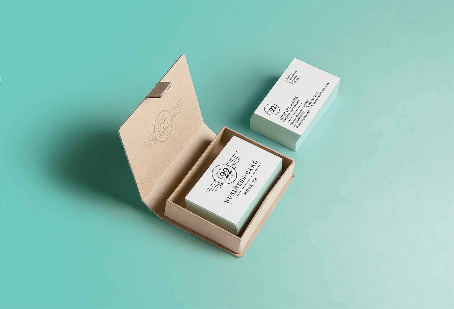mockup templates are a basic and trouble free way to deal with accomplish this. Business Card Inside Square Box Mockup Best Free Mockups