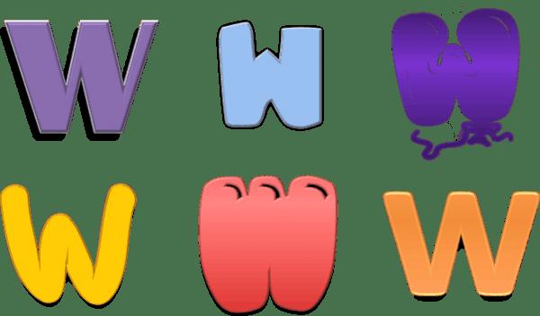 Letter W Monogram Customize Online Instant Download