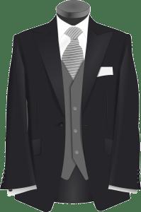 empty groom suit