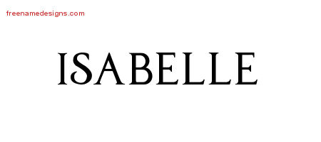 Regal Victorian Name Tattoo Designs Isabelle Graphic