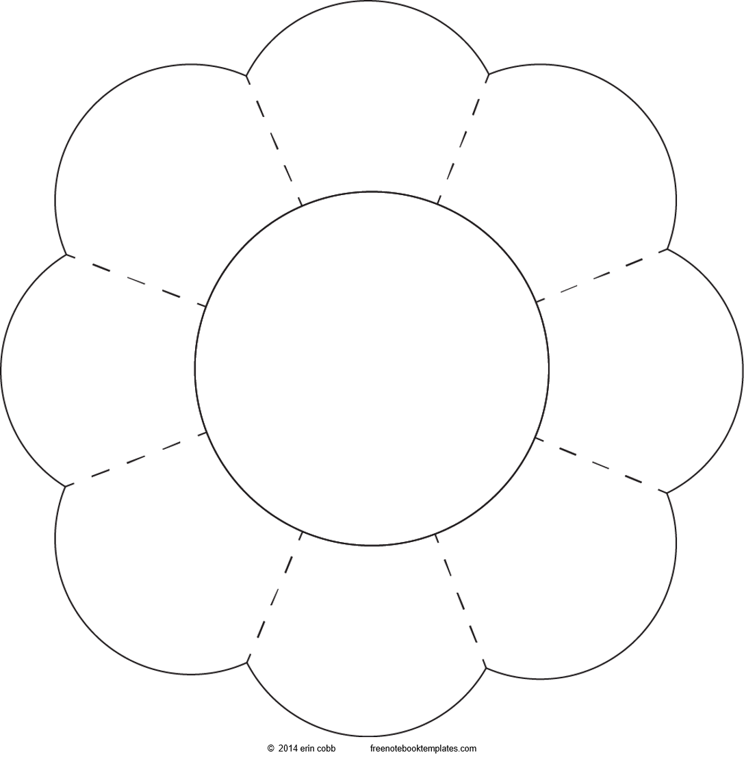 Fun Shapes 8 Petal Flower Free Notebook Templates