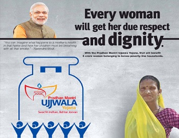 Image result for PM Modi every women will get her due dignity LPG