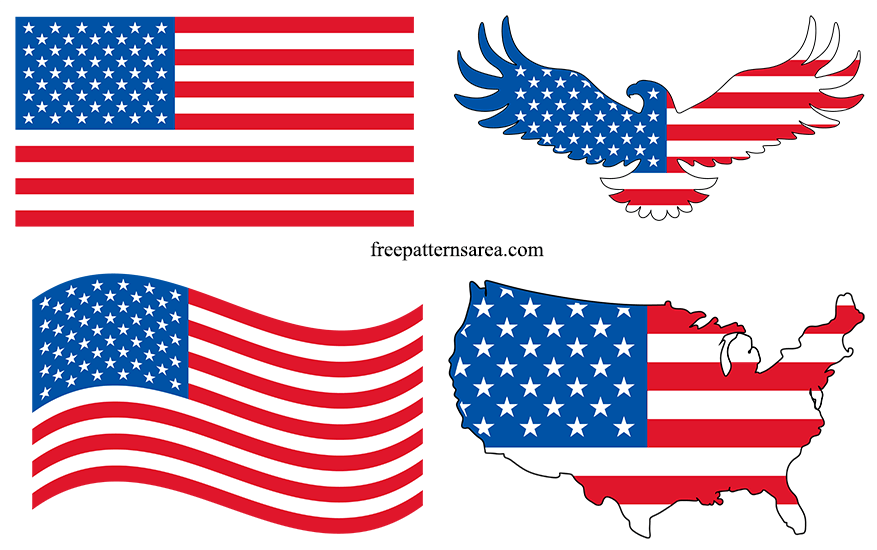 Usa United States American Flag Vector Images Freepatternsarea