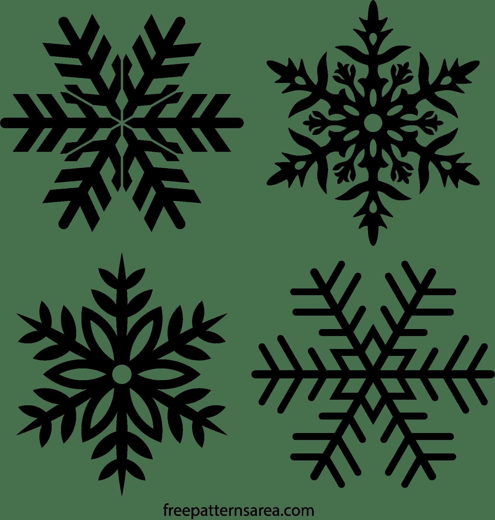 Free Snowflake Stencil Vector