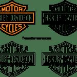 Harley Davidson Logo Stencil Vector Freepatternsarea