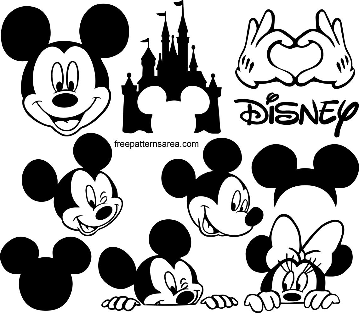 Download Soft Mickey Mouse Outline Printable | Butler Website