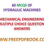 HYDRAULIC MACHINES – Mechanical Engineering Multiple choice Questions Answers