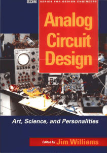 Analog Circuit Design Art Science and Personalities by Jim Williams