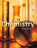 Modern Analytical Chemistry by David Harvey