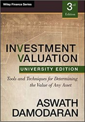 Investment Valuation: Tools and Techniques for Determining the Value of any Asset book pdf free download