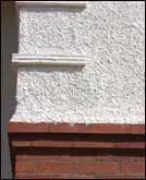 Rough-cast upper wall