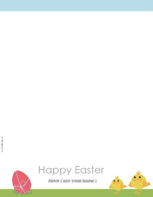 Free Custom Easter Stationery