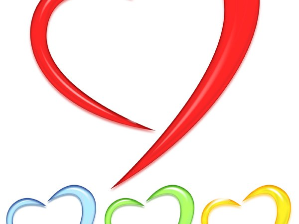 Free Glossy Hearts PSD, PNG and Picture