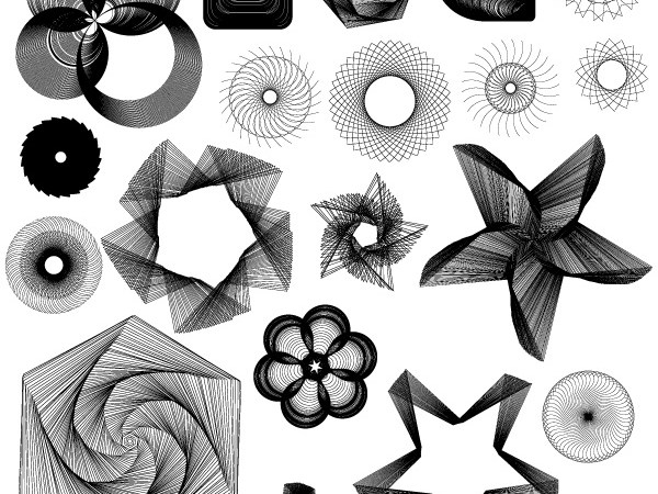 Free Spirograph Photoshop Brushes, Vectors, PNG and Pictures
