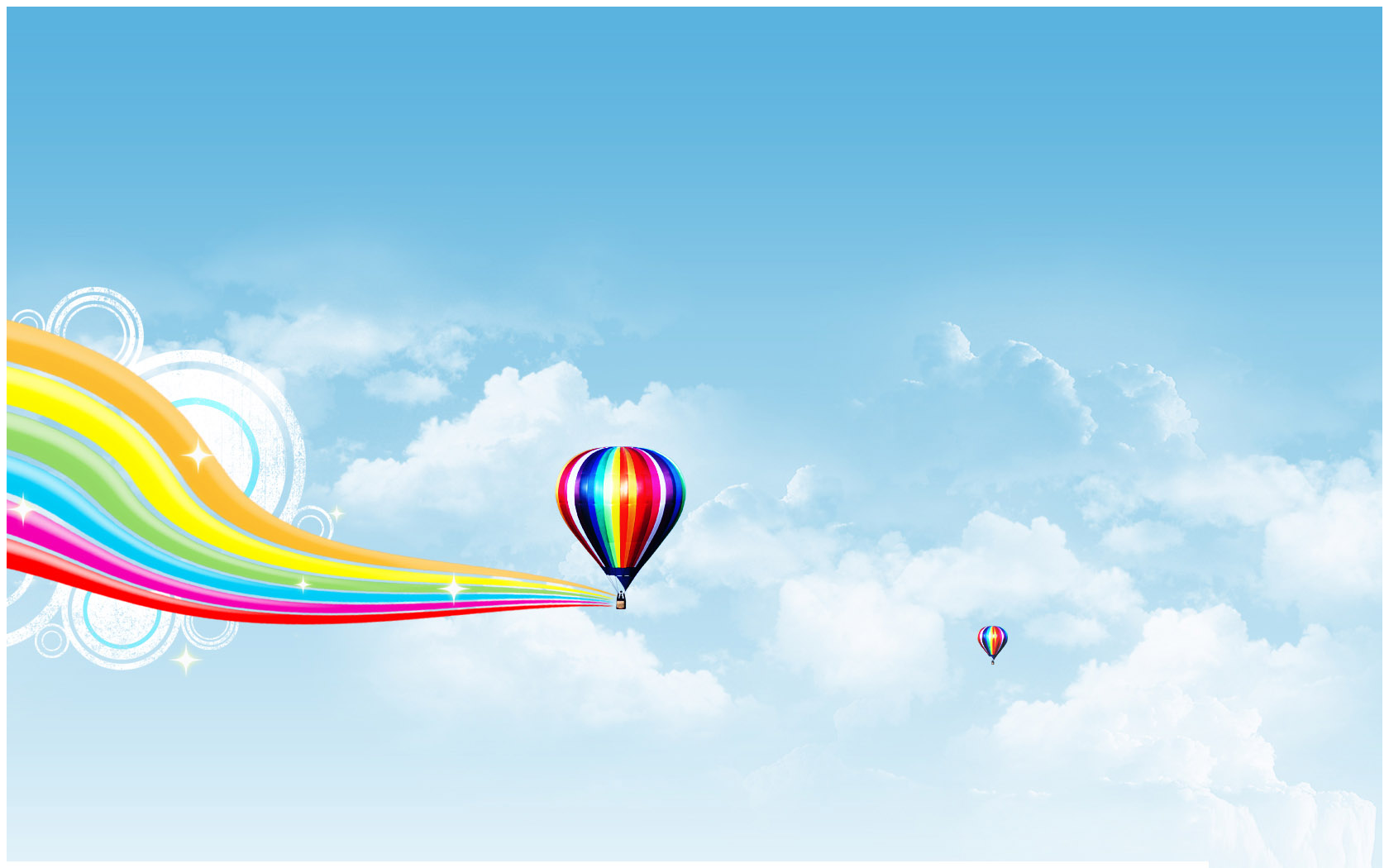 Air Balloon PPT Powerpoint Template | PPT Backgrounds Templates