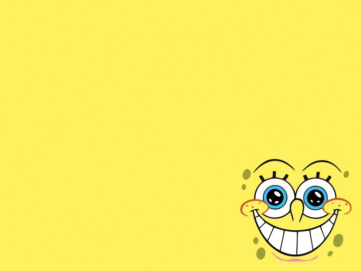 Cartoon powerpoint background for Spongebob powerpoint template
