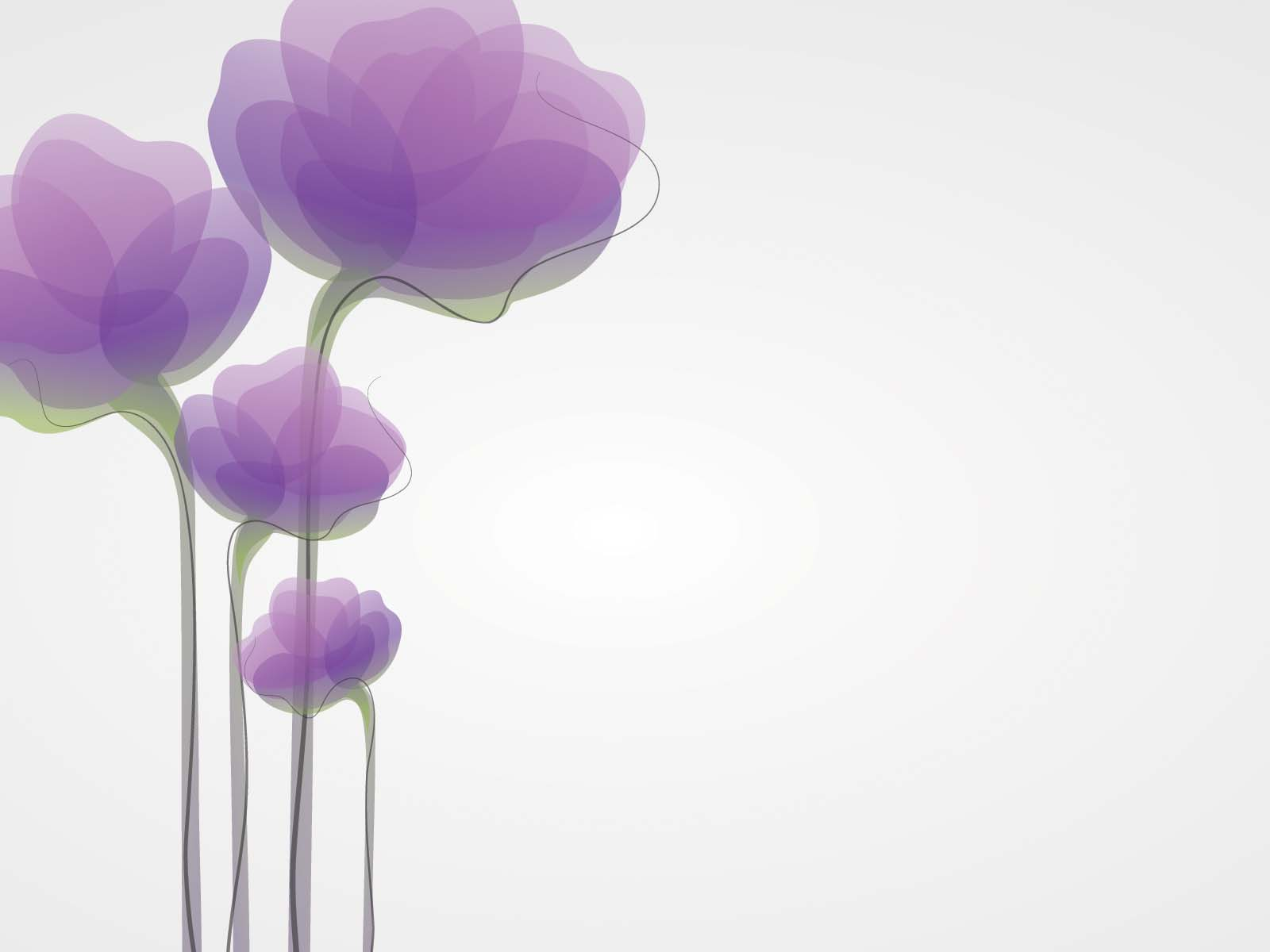 Cute Purple Flower Powerpoint Templates   Flowers  Fuchsia   Magenta     Cute Purple Flower Powerpoint Templates