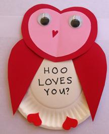 Valentine coruja artesanato