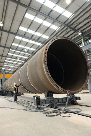 TURBINE PLANT: Wind turbine maker Mabey Bridge in Chepstow is to shed 45 jobs