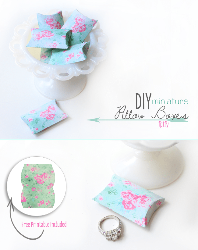 Diy Gift Boxes Free DIY Miniature Pillow Box Printables