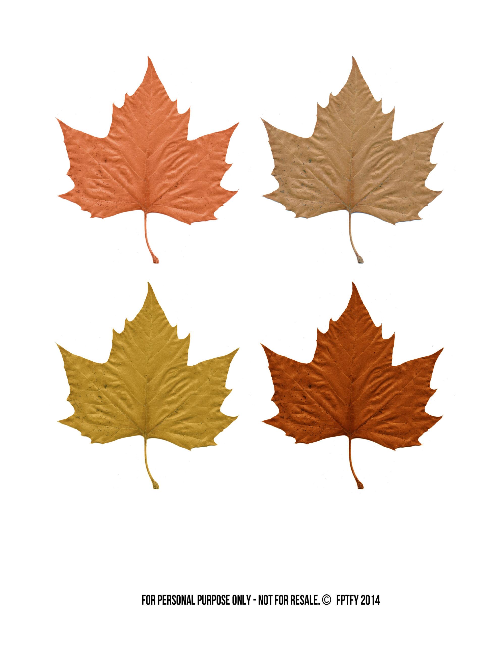 Autumn Easy Fall Treats Leaf Printables
