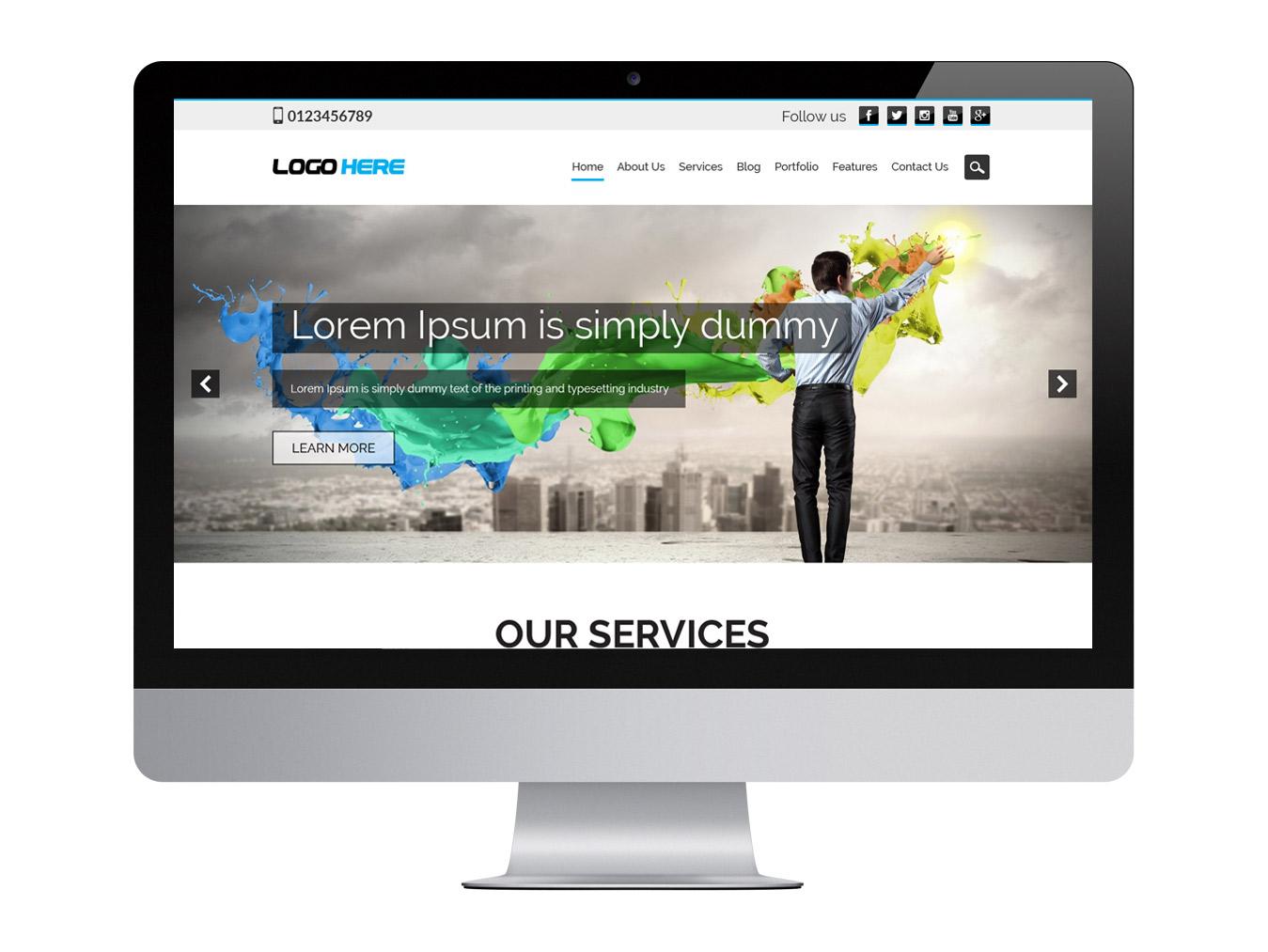 Website development company free psd design
