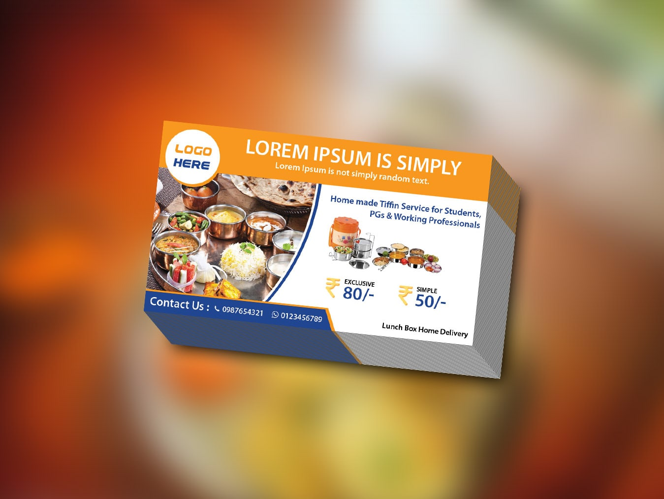 Lunch box visiting card