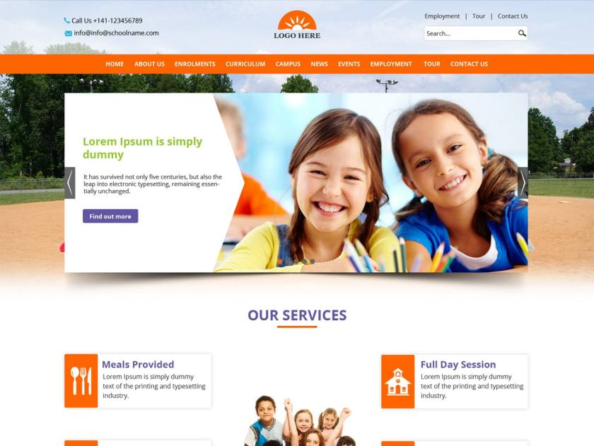 school website templates