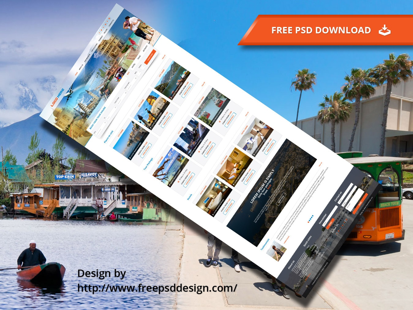 Book Your Tour package Design