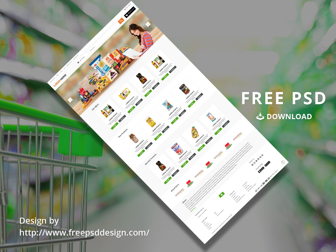 Online Grocery Store PSD design