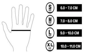 размер на ръкавиците