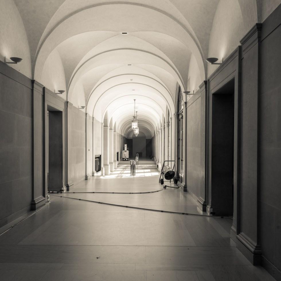 Freer Gallery of Art corridor under renovation 2017.