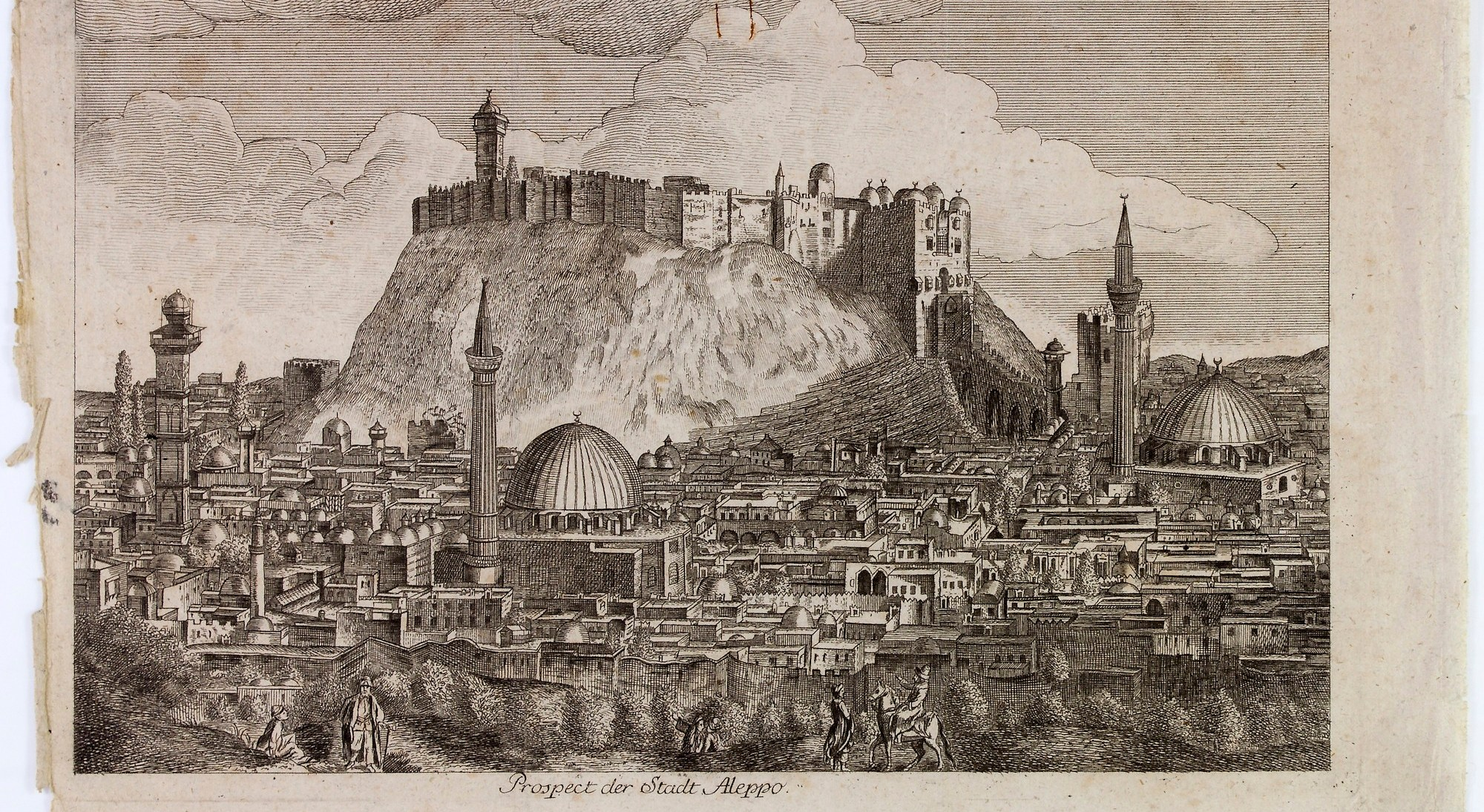 Monochromatic etching of Citadel.