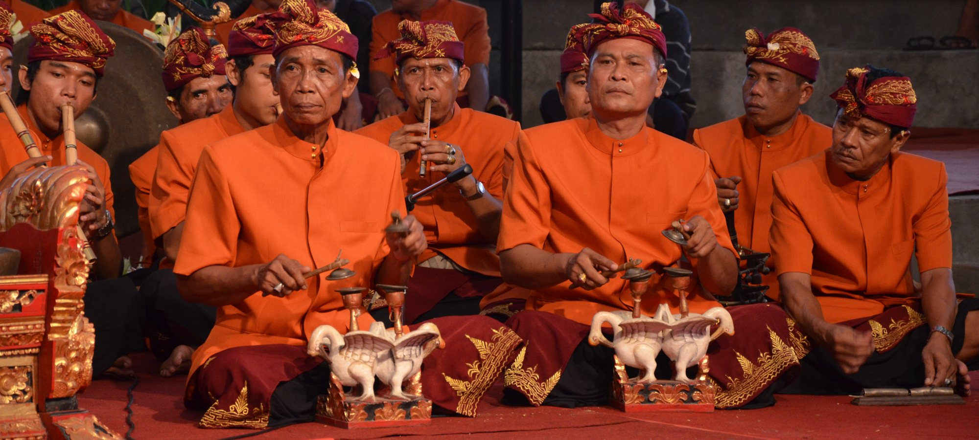 Indonesian men playing music