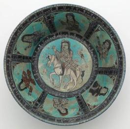green-blue dish