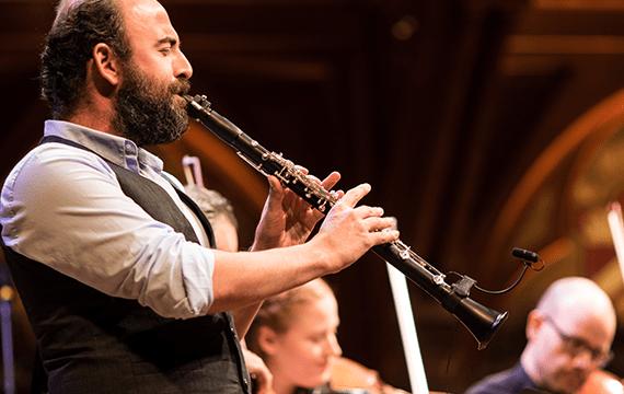 Man playing clarinet.