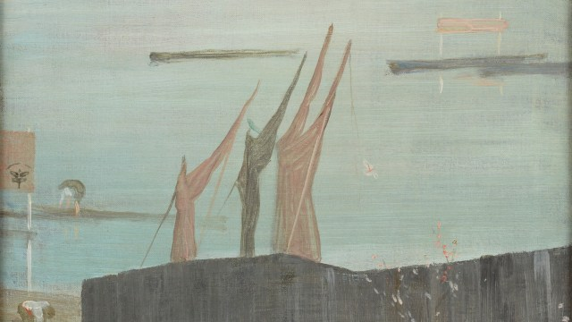 Variations in Pink and Grey: Chelsea Oil painting