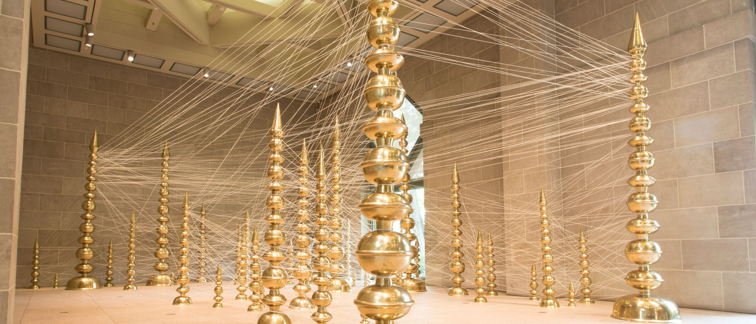 Subodh Gupta: Terminal as installed in the Sackler gallery pavillion