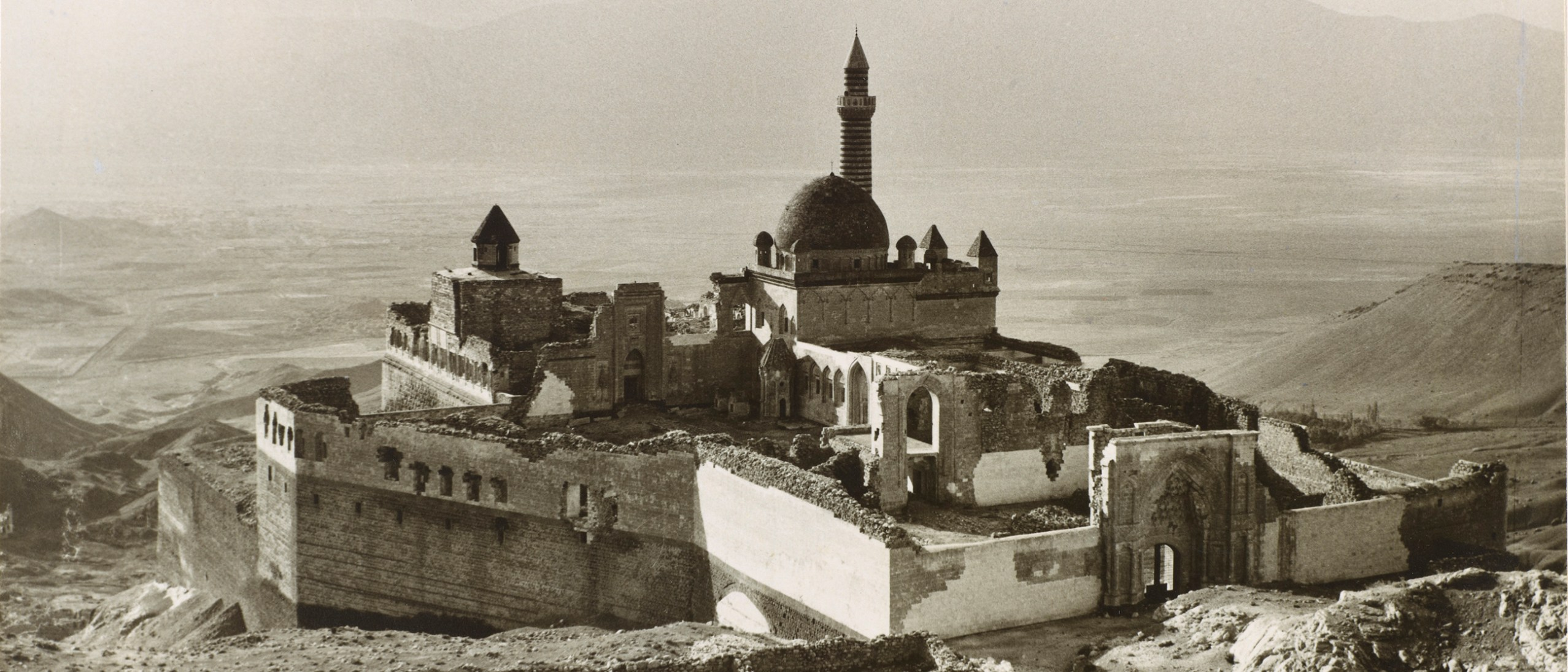 Detail photograph, ŀshak Paşa Palace, Doğubayazıt; Ara Güler; silver gelatin print, 1965; Raymond A. Hare collection, Freer Gallery of Art and Arthur M. Sackler Gallery Archives, A1989.03.3.9