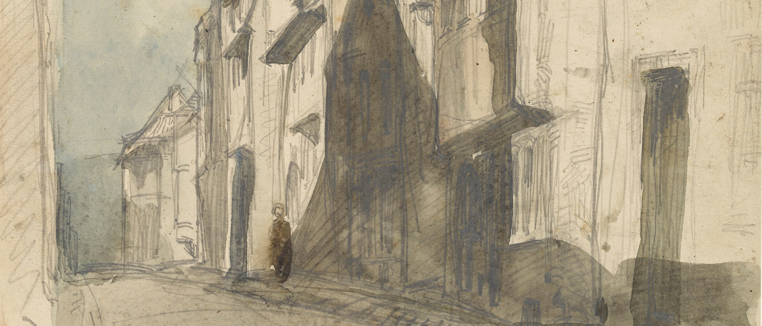 Detail image, A Street at Saverne; James McNeill Whistler (1834-1903); Watercolor and pencil on paper; Gift of Charles Lang Freer; Freer Gallery of Art; F1898.147