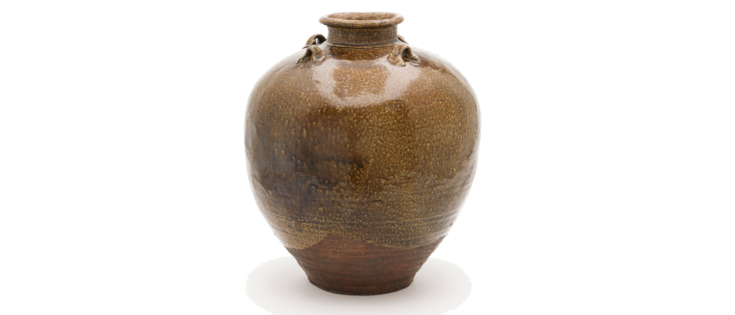 Image of Tea-leaf storage jar named Chigusa; China, probably Guangdong Province; Southern Song or Yuan dynasty, mid-13th–mid-14th century; Stoneware with iron glaze; 41.6 cm (h); FSC-P-6964.1