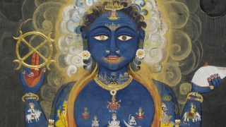 Detail image, Vishnu Vishvarupa; India, Rajasthan, Jaipur, ca. 1800–1820; Opaque watercolor and gold on paper, 38.5 x 28 cm; Victoria and Albert Museum, London, Given by Mrs. Gerald Clark, IS.33-2006
