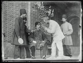 Nasir al-Din Shah with his Austrian dentist