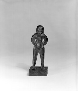 Photo, Cast silver male figure. Han dynasty, 3rd–1st century BCE., H: 8.4 cm. (3 1/4 in.) Singer catalogue number: [1061].
