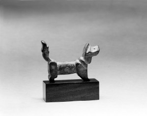 Photo, Bronze and lead dog. Six Dynasties period, 3rd–5th century., L: 20 cm. (1 7/8 in.) Singer catalogue number: [1152].