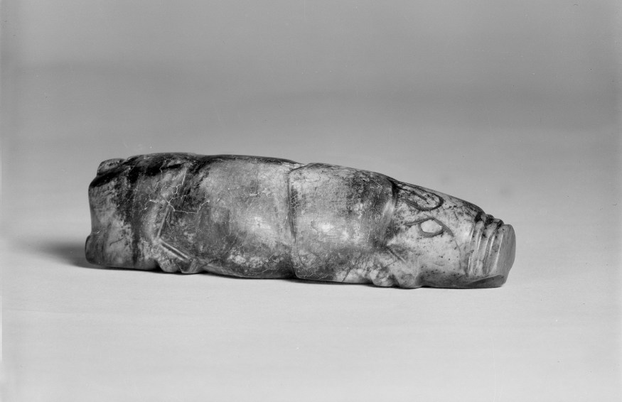 Photo, Marble pig. Han dynasty, 206 BCE–220 CE., L: 10.9 cm. (4 1/4 in.). Singer catalogue number: [782].