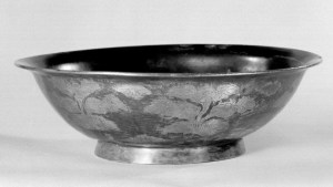 Detail photo, Gilt silver bowl. Tang dynasty, 10th–12th century., Diam: 20.7 cm. (8 1/8 in.). Singer catalogue number: [1440].