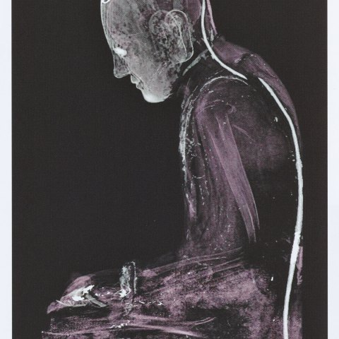 imaging showing a monk inside a lacquer sculpture